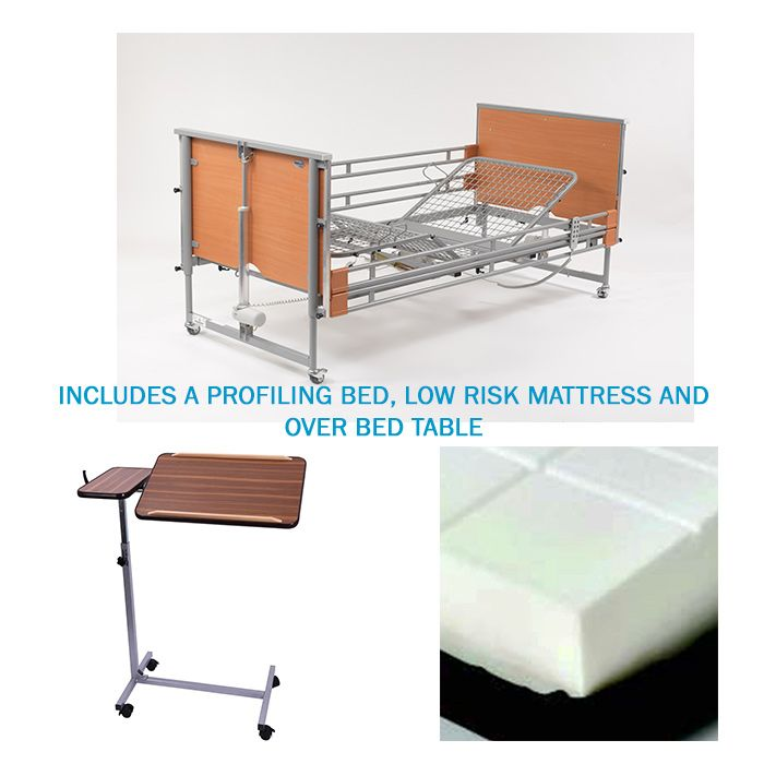 Hospital Bed Rental Ireland Includes Bed Mattress And Overbed Table